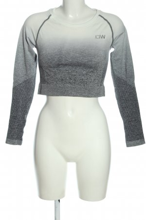 ICIW Maglietta sport grigio chiaro Colore sfumato stile casual