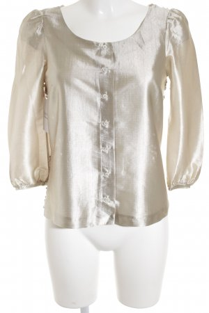 icke Glanzbluse beige Casual-Look