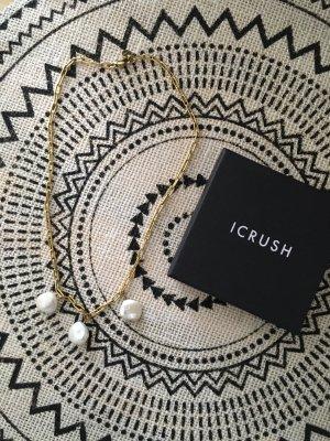 icrush Catenina bianco-oro