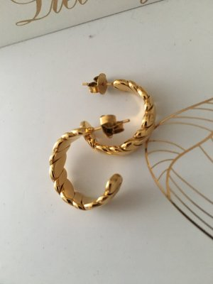 icrush Ear Hoops gold-colored