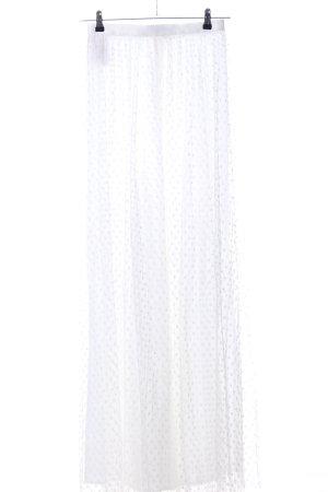 Ida Sjöstedt Maxi gonna bianco-grigio chiaro motivo a pallini stile casual