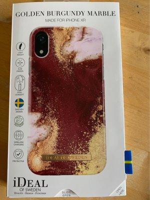 Ideal of Sweden Handyhülle IPhone XR Golden Burgundy Marble
