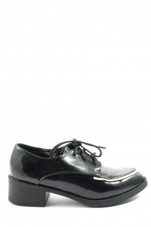 ideal shoes Oxfords black casual look