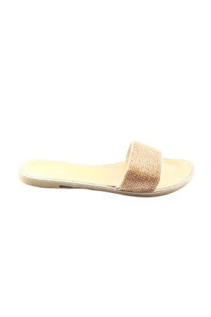 ideal shoes Sabots goldfarben Glitzer-Optik