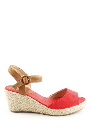 Ideal Wedges Sandaletten rot-wollweiß Casual-Look
