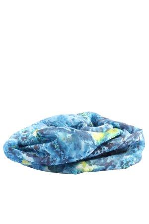 ideen in stoff Seidentuch blau-blassgelb Allover-Druck Casual-Look