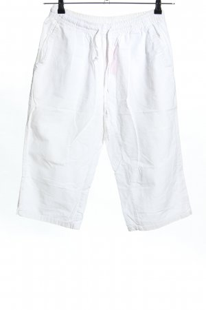 Identic 3/4 Length Trousers white casual look
