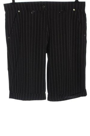 Identic Bermuda nero-bianco stampa integrale stile casual