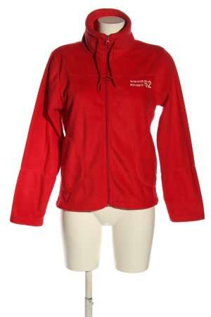 Identic Fleece Jackets red printed lettering casual look