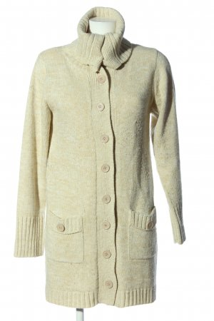 Identic Coarse Knitted Jacket natural white cable stitch casual look