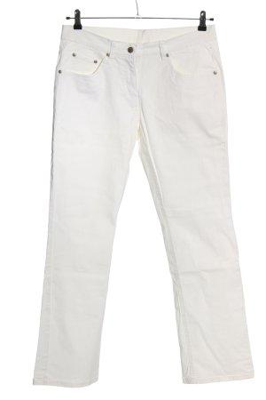 Identic Jeansy o kroju boot cut biały W stylu casual
