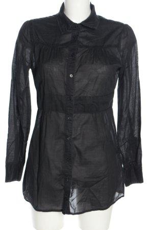 IDPDT Lange blouse zwart casual uitstraling
