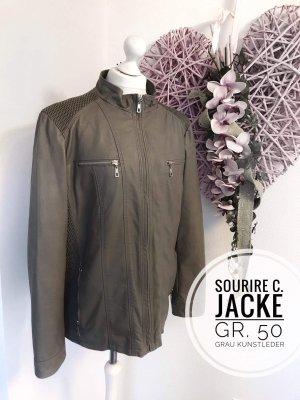 ier und raucherfreier Haushalt  Sourire 50 Jacke Kunstleder neuwertig plus size grau 5xl Mode Damen vintage blogger