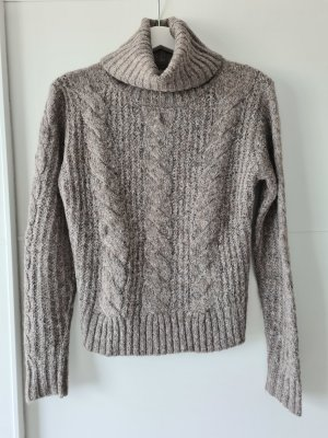 if it were me Coarse Knitted Sweater light grey-grey brown