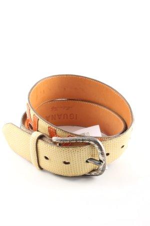 IGUANA Cinturón de cuero estampado de animales look casual