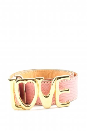 IGUANA Faux Leather Belt pink-gold-colored animal pattern wet-look