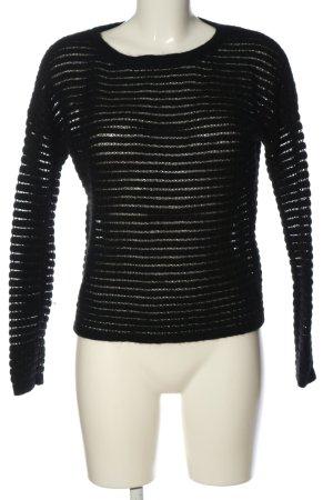 iheart Pullover in cashmere nero motivo a righe stile casual