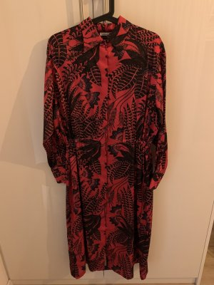 iheart Vestido camisero rojo frambuesa