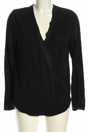 iheart Langarm-Bluse schwarz Casual-Look
