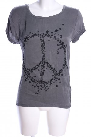 iheart Camicia fantasia grigio chiaro-nero Stampa a tema stile casual