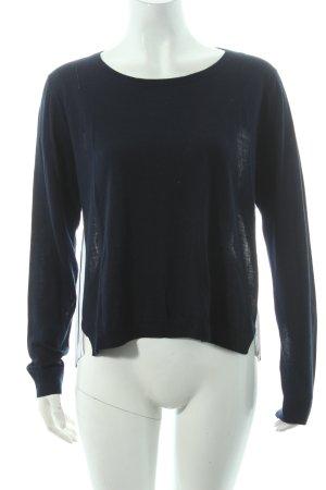 iheart Camicia blu scuro-bianco motivo a righe stile casual