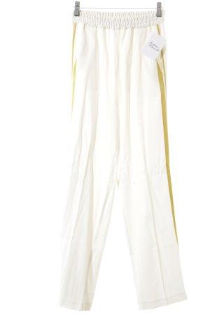 iheart Pantalone jersey bianco sporco-oro motivo a righe stile festa
