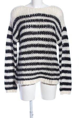 iheart Strickpullover weiß-schwarz Streifenmuster Casual-Look