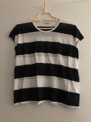 iheart Gestreept shirt wit-zwart