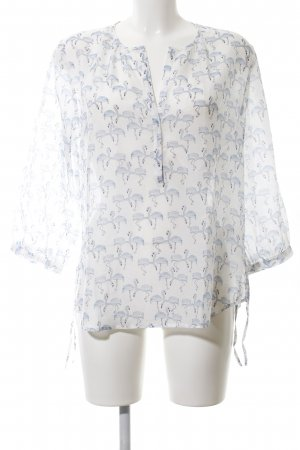 iheart Transparenz-Bluse weiß Allover-Druck Casual-Look