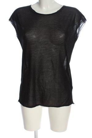 iheart Camicia maglia nero motivo a righe elegante