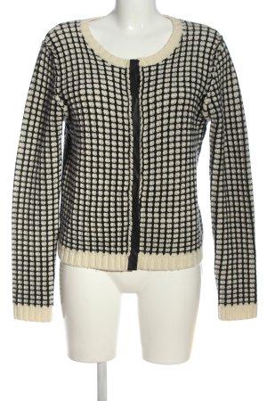 iheart Giacca di lana bianco sporco-nero stampa integrale stile casual