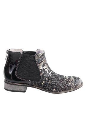 iiM77 Ankle Boots schwarz Animalmuster Casual-Look