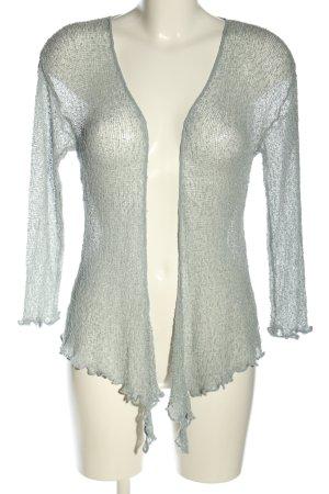 ikat Crochet Cardigan light grey casual look