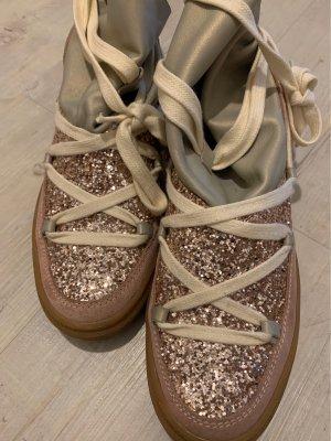 IKKII Boots Schuhe Sneaker Glitzer Rosa Grau