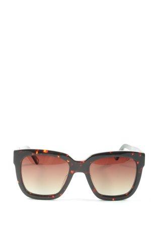 Ikkii Occhiale da sole spigoloso nero-arancione chiaro stile casual