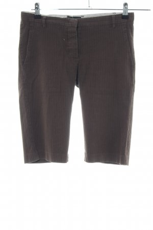 Ikks 3/4 Length Trousers brown-natural white striped pattern casual look