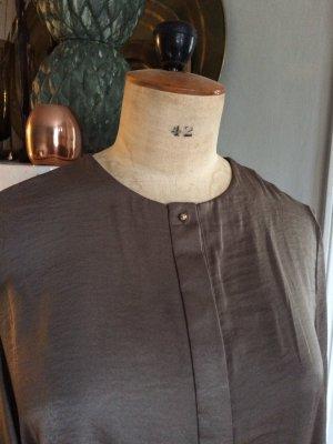 IKKS Bluse, tolle Farbe, neu, Gr. 38, Kupfer, graubraun, Messing