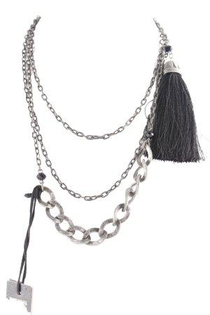 Ikks Gliederkette grau-schwarz Casual-Look