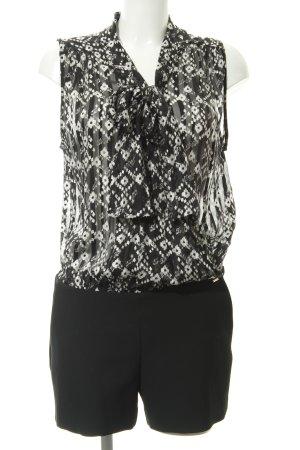 Ikks Jumpsuit schwarz-weiß abstraktes Muster Elegant