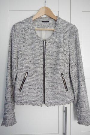 IKKS Kastenjacke Blazer Tweed Lurex Gr. 40 (FR) mit tollen Details NEUw.