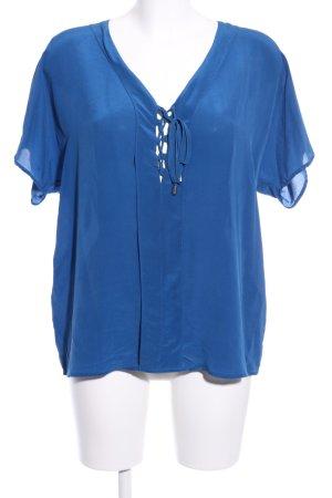 Ikks Kurzarm-Bluse blau Elegant