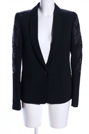 Ikks Long-Blazer schwarz grafisches Muster Business-Look