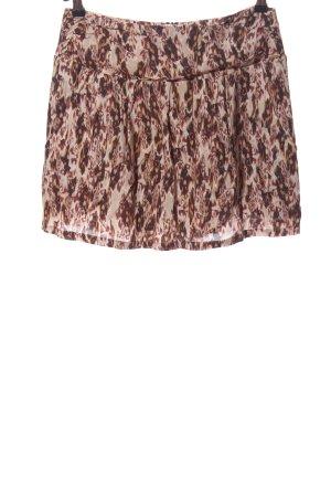 Ikks Minifalda marrón-crema estampado con diseño abstracto look casual