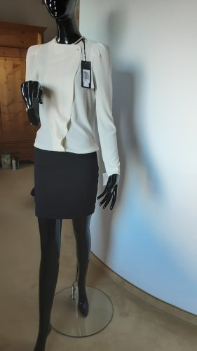 Ikks Vestido camisero blanco-negro