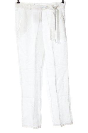 Ikks Pantalón tipo suéter blanco look casual