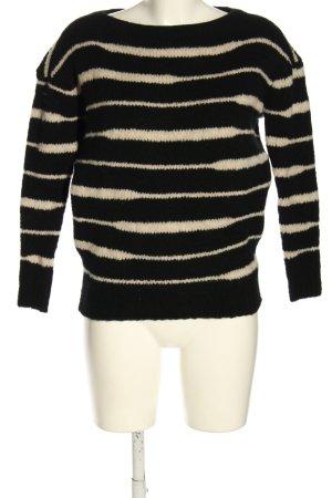 Ikks Jersey de punto negro-blanco puro estampado a rayas look casual