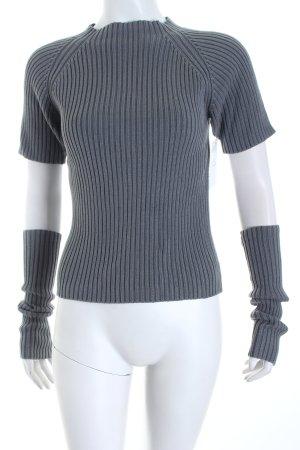 Ikks Strickshirt grau Street-Fashion-Look
