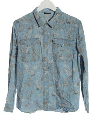 IKKS WOMEN Chemise en jean bleu imprimé allover style décontracté