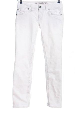 Il Dolce Jeans vita bassa bianco stile casual