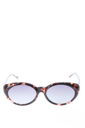Illesteva ovale Sonnenbrille schwarz-rot Casual-Look